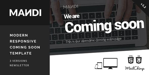 Mandi - Modern Responsive Coming Soon Template
