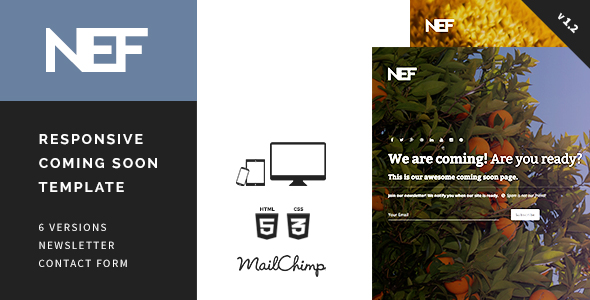 Nef - Responsive Coming Soon Template