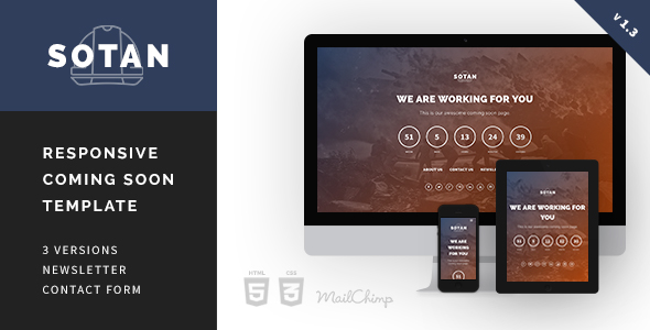 Sotan - Responsive Coming Soon Template